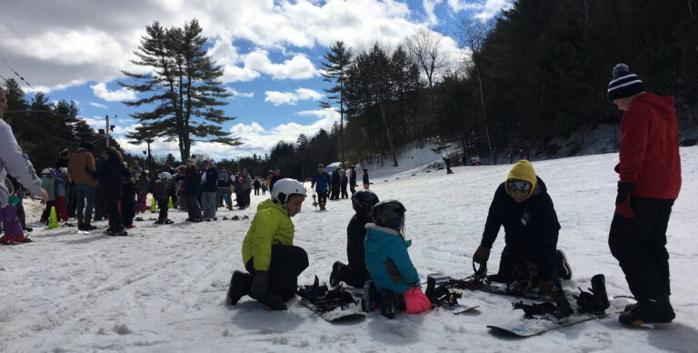 learn to ski and snowboard in maine